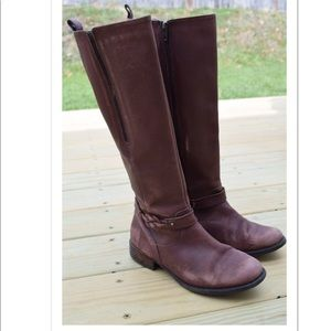 Clarks leather riding boots